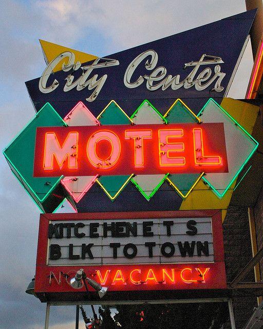 City Center Motel Vintage Neon Signs Retro Sign Neon Signs