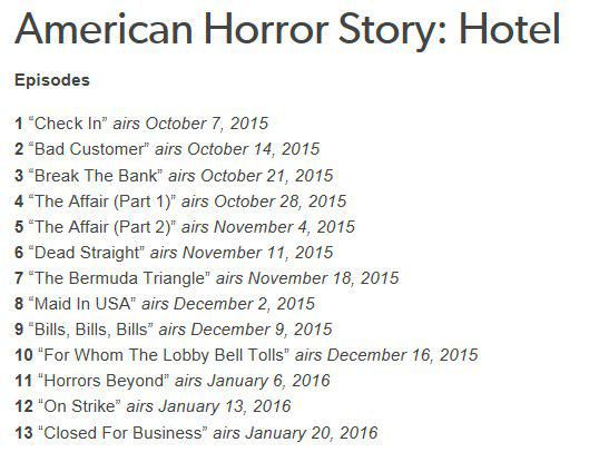 Даша on | Movies/Tv/books | American horror story seasons