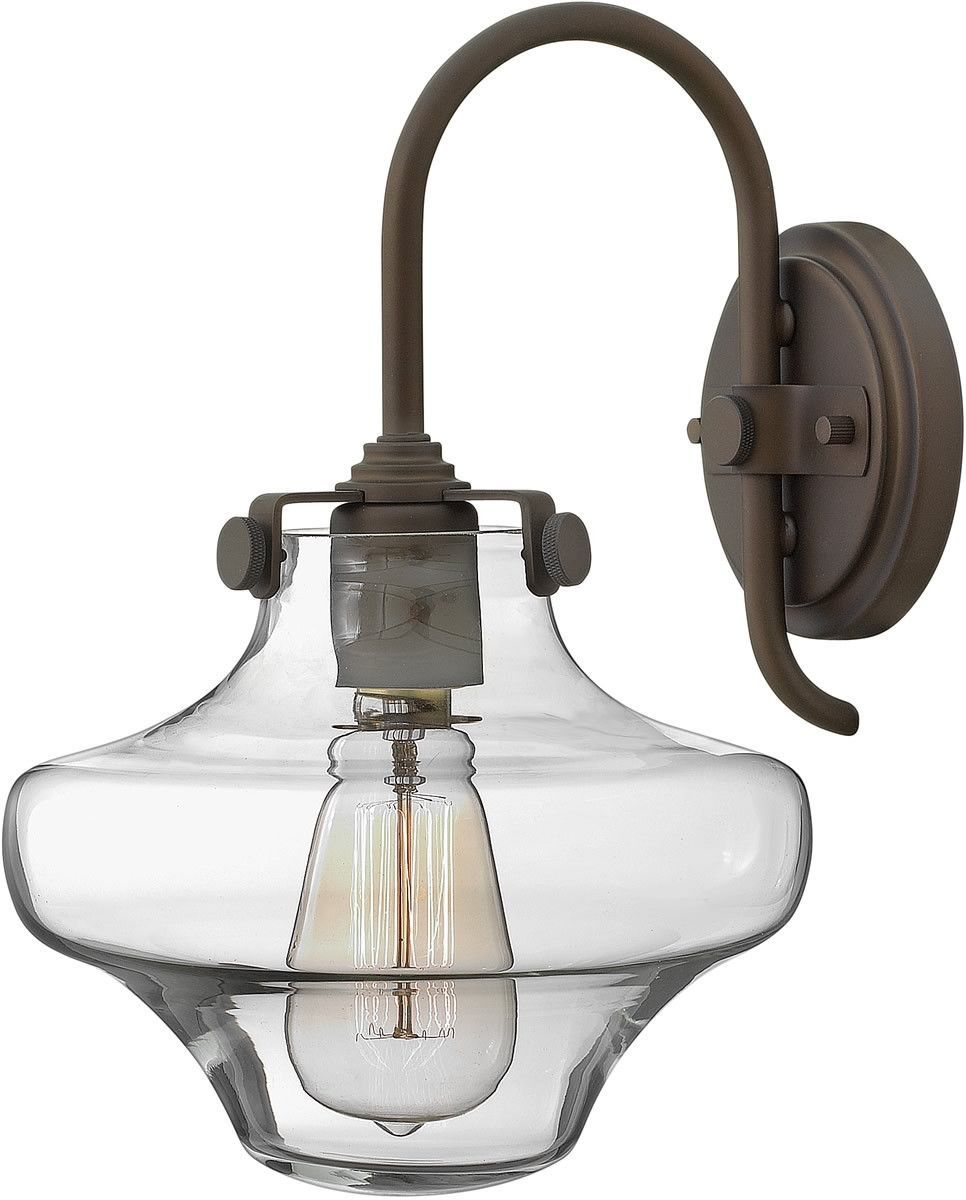 """0-027133>9""""w Congress 1-Light Sconce Oil Rubbed Bronze ... on Bathroom Sconce Lights Brushed Bronze id=13594"""