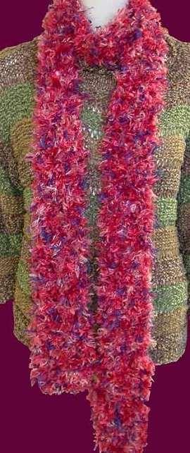 Splash Eyelash Squiggle 2 Hour Scarf Free Scarf Knitting Pattern