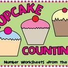 Kindergarten Number Worksheets  Math Center  Cupcake Counting Game  Printable Worksheets  Number Worksheets  Printable  Teachers Resources