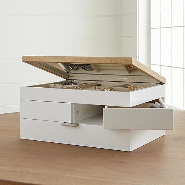 Selma White Jewelry Box + Reviews   Crate and Barrel ...