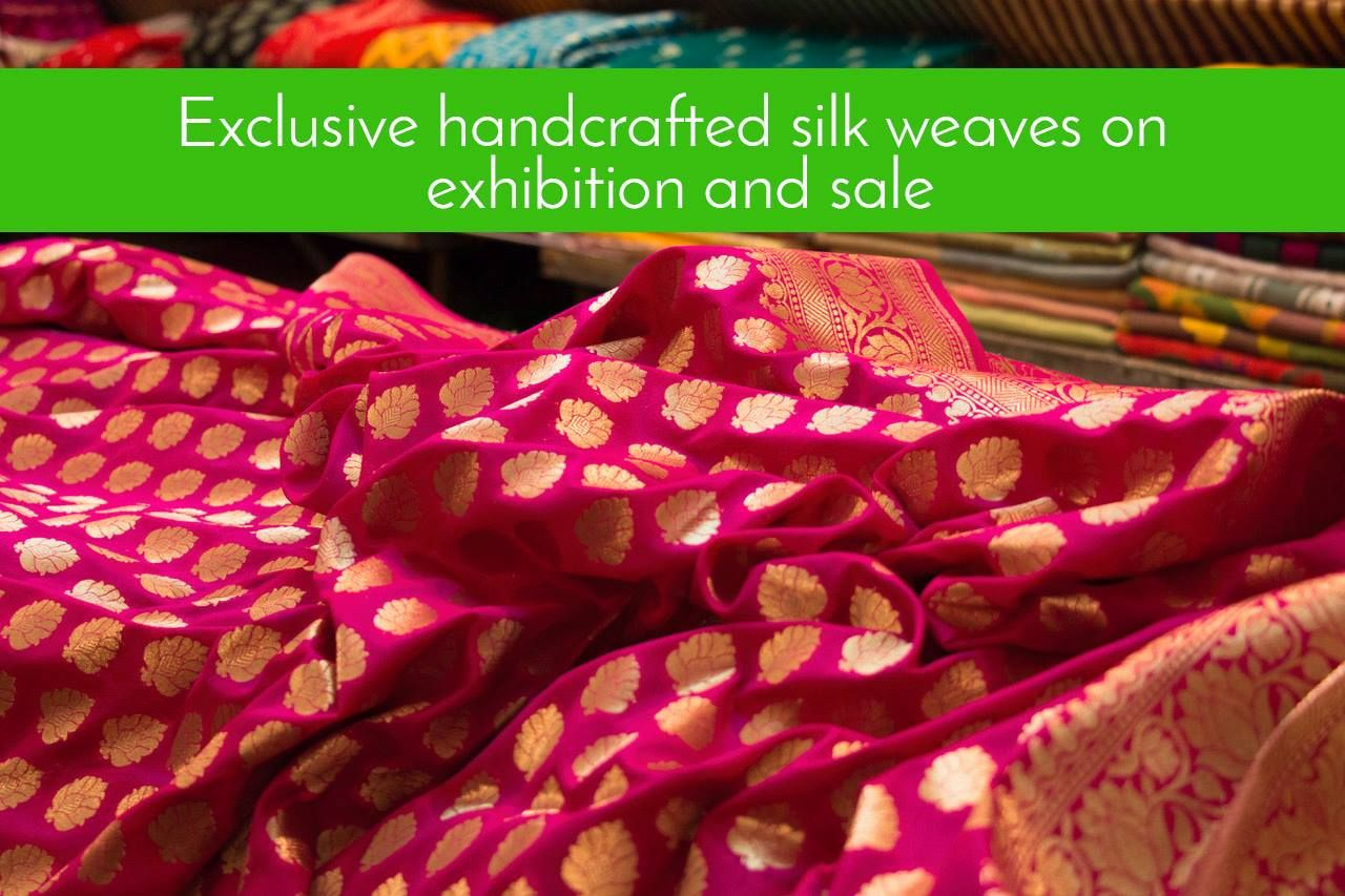 Exclusive handcrafted #silkweaves on exhibition and sale Indian Silk Expo Venue: Birla Auditorium, Statue Circle, C Scheme Date: 22-27 December 2016 Time: 11am to 9pm #exhibition #Sale  #IndianSilkExpo #CityShorJaipur