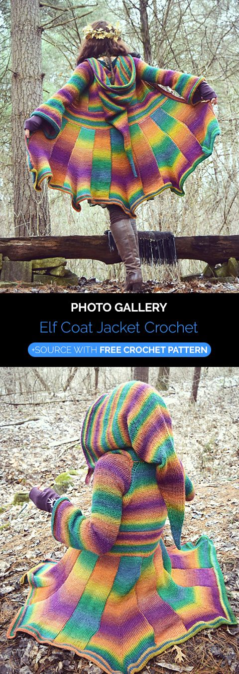 Photo of Elf Coat Jacket Crochet
