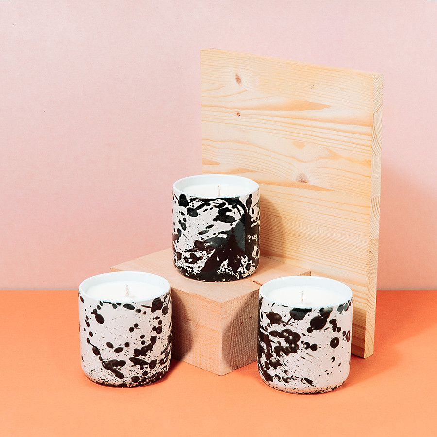 Exclusive Standard Wax Splatter Pot Candle for Poketo