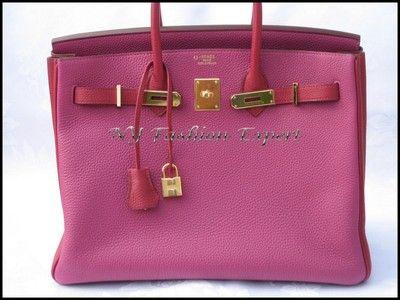 62e8b6f5d96e Super Special TOSCA RUBIS 35cm Hermes Birkin Bag Gold