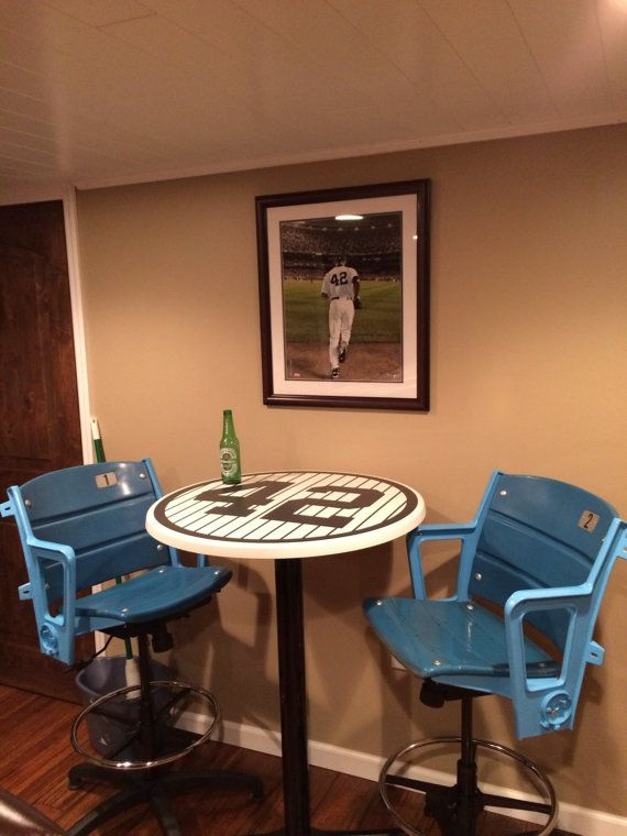 Man Cave Store New Jersey : Navy blue baseball numbers pub tables men cave