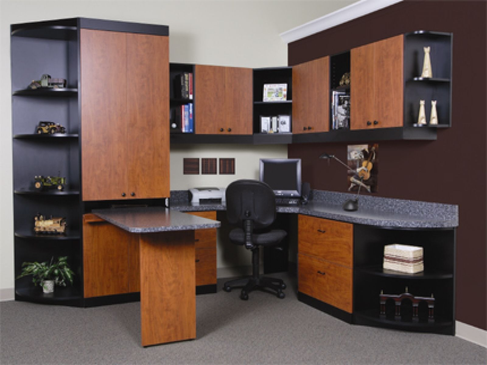 Office Wall Cabinets With Modern Small Display
