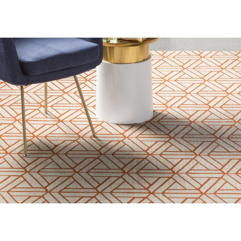 Ginsberg Burnt Orange Dark Brown Area Rug Area Rugs Orange Area
