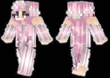 Sakura Girl Pink Long Dress Girl Mc Skins