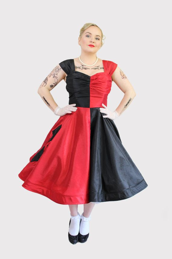 Custom Rockabilly Harley Quinn Dress Costume By Thecuckooemporium