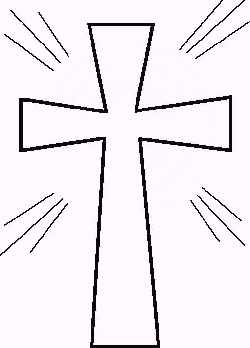 Cross Outline Coloring Page