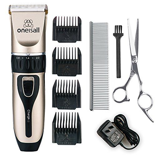 Oneisall Professional Rechargeable Cordless Electric Pet Grooming Trimming Clipper Kits For Dogs Cats Blackgold Dog Grooming Business Dog Clippers Pet Grooming