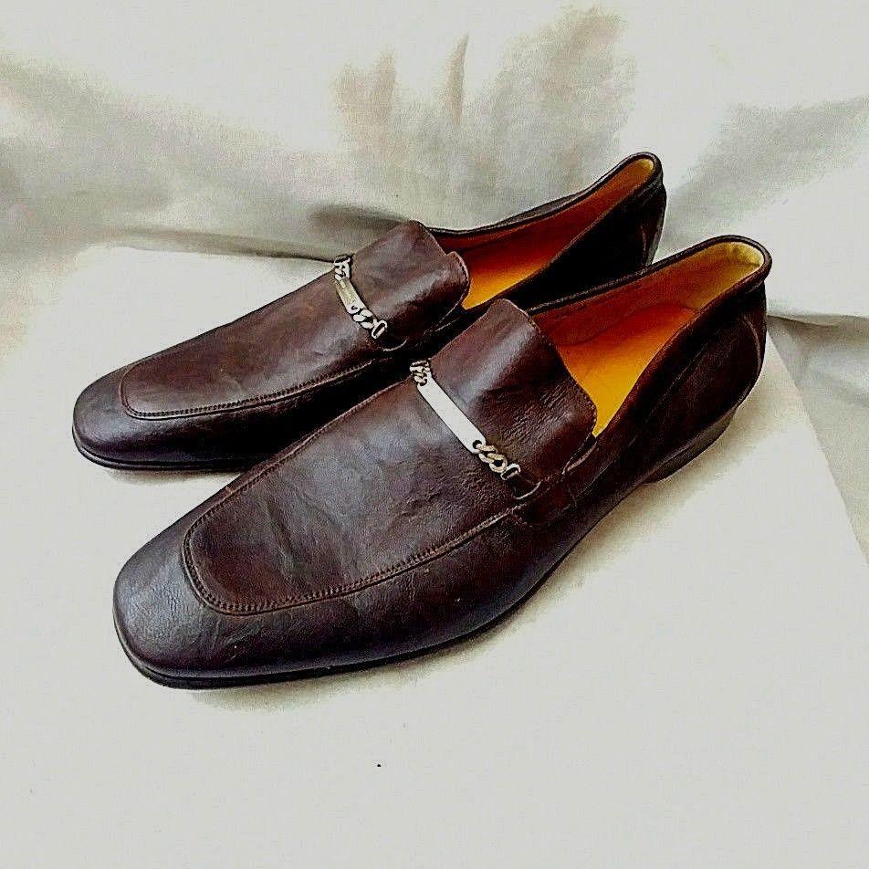 Slip on Dress Shoes Donald J Pliner- Size 10.5 M- Mens Black Loafer Vintage Black Dress Shoe Men/'s black shoes Men/'s Black Dress Shoe