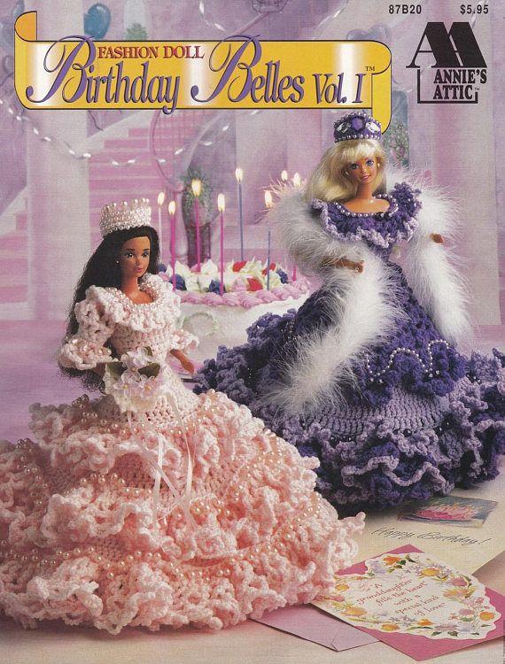 Birthday Belles Vol 1 Annies Attic Crochet Doll Clothes Barbie