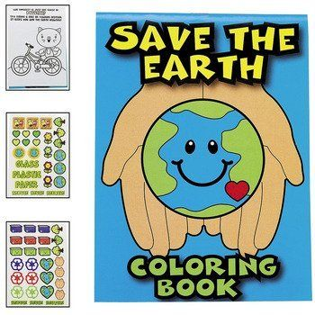 """Save The Earth Coloring Books (2 dozen) - Bulk [Toy] by Fun Express. $17.99. 7"""". 12 pgs. 2 dozen. Crayons not included. Includes coloring pages and 55 stickers. Paper """"Save The Earth"""" Coloring Books. Includes coloring pages and 55 stickers. (2 dozen) 7"""" 12 pgs. Crayons not included."""