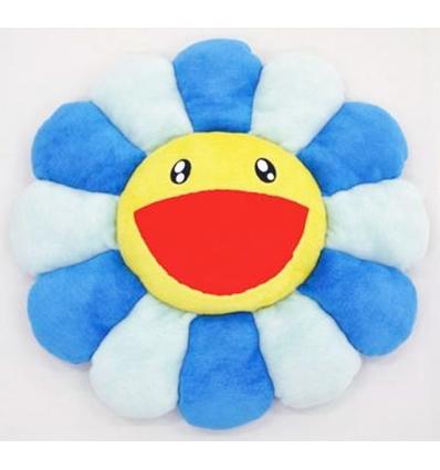 Takashi MURAKAMI Flower Cushion 1m Blue & yellow