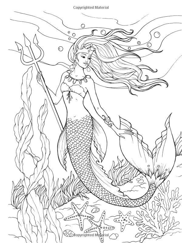 Creative Haven Mermaids Coloring Book Adult Coloring