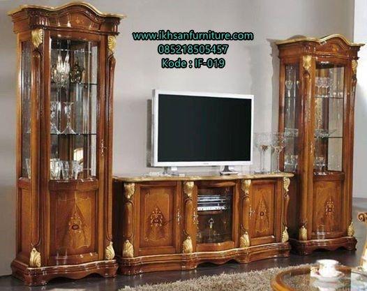 Desain Bufet Tv Jati Mewah Klasik Bufet Tv Jati Mewah