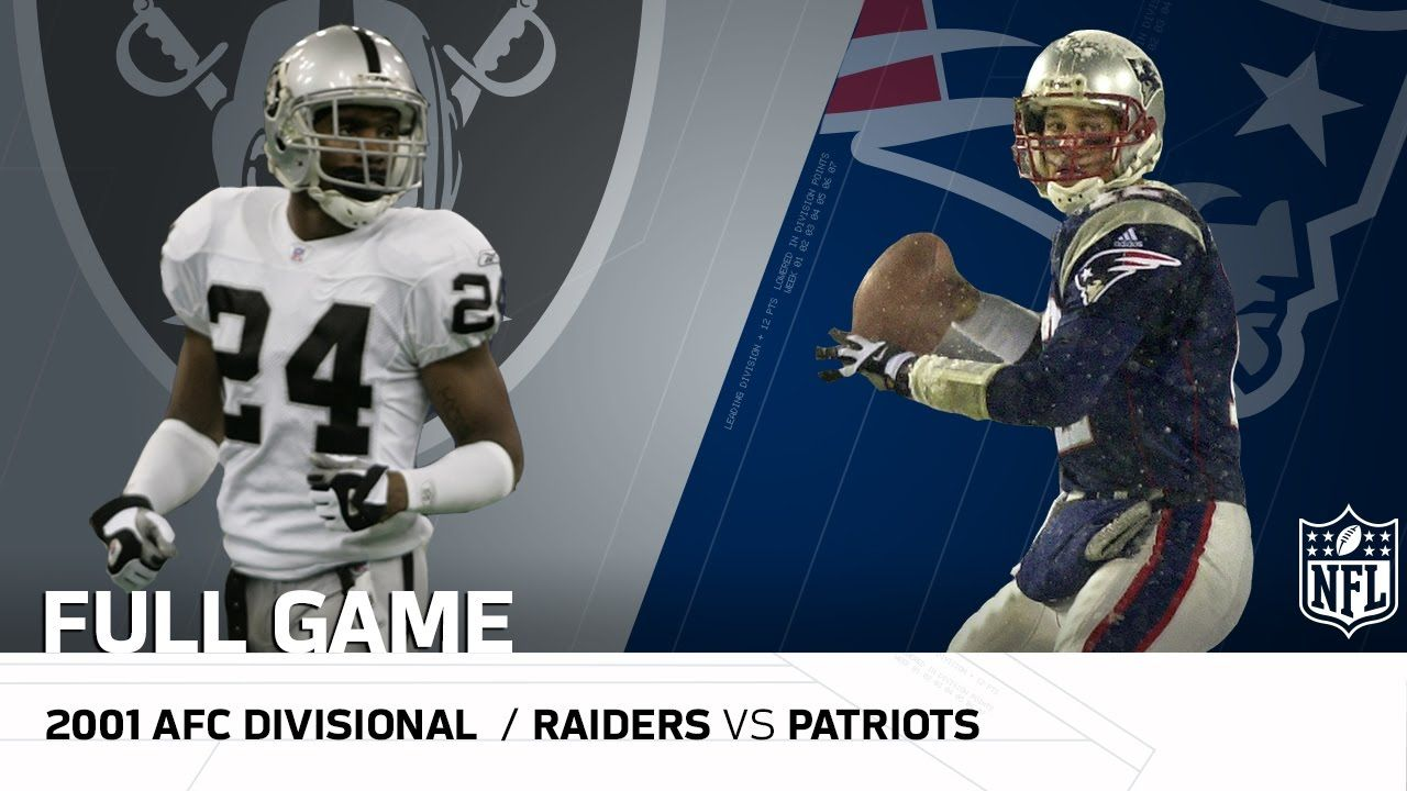 2001 Afc Divisional Round Raiders Vs Patriots Tuck Rule Game Nfl Football American Tuck Rule Game Nfl Patriots