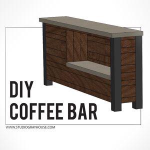 Elegant Free Standing Bar Plans