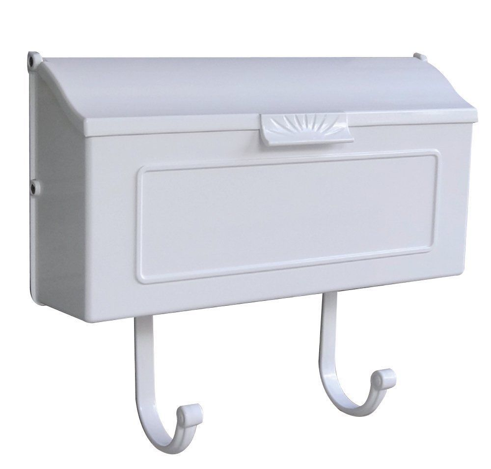 White Wall Mount Mailbox Post Letter Aluminum House Resident Cast Mail Metal Wall Mount Mailbox Mounted Mailbox Aluminum Wall