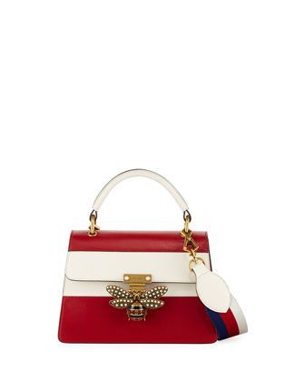 627435dd6 Queen Margaret Small Top-Handle Bag, Hibiscus Red/Mystic White by Gucci at  Neiman Marcus.