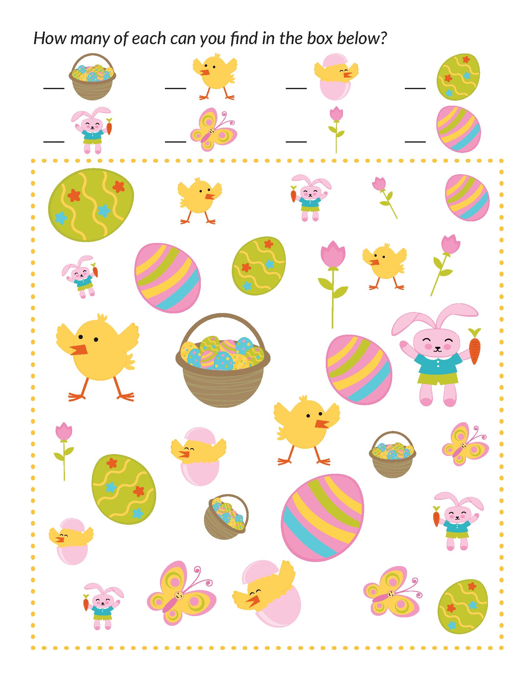 Easter I Spy Easter Story For Kids Easter Activities For Kids Kids Planner [ 2200 x 1700 Pixel ]
