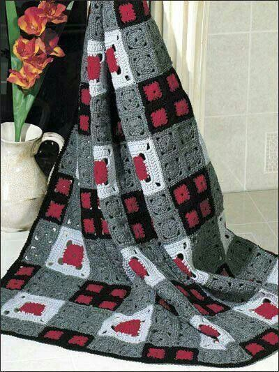 Gris-roja-negra-blanca | Crochet | Pinterest