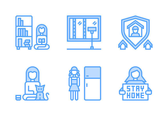 stay at home blue by cattaleeya thongsriphong in 2020 stay at home branding design business icons design pinterest