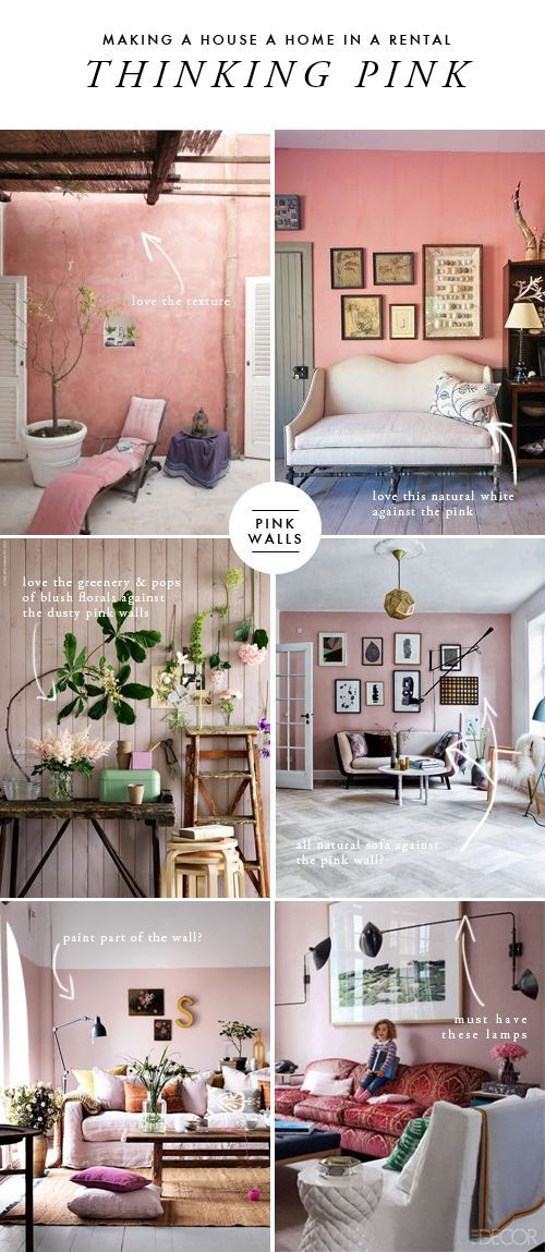 Making A House A Home In A Rental Pink Living Room The House That Lars Built Pink Living Room Living Room Decor Apartment Bedroom Wall Colors Making room in this house