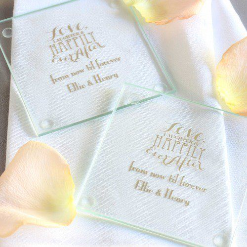 Make Your Wedding An Affair To Remember With These Personalized Glass Coasters