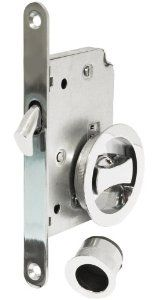 Jako Sliding Door Mortise Lock Privacy K48 - Polished Chrome by Jako. $30.76. A MORTISE LOCK IS ONE THAT REQUIRES A POCKET, FOR THE MORTISE, TO BE CUT INTO THE DOOR OR PIECE OF FURNITURE INTO WHICH THIS IS TO BE FITTED. THE PARTS INCLUDED IN THE TYPICAL MORTISE LOCK INSTALLATION ARE: THE LOCK BODY (WHICH MAY BE SELECTED FROM ANY NUMBER OF DESIGNS OF DOOR KNOBS, LEVERS, HANDLESETS, AND PULLS); A STRIKE PLATE, OR A BOX KEEP, WHICH LINES THE HOLE IN THE FRAME INTO WHICH THE BOLT FITS.