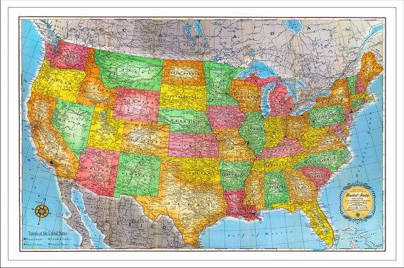 Personalized Us Map.Usa Travel Map 2 Us Map Push Pin Map Personalized Travel Map