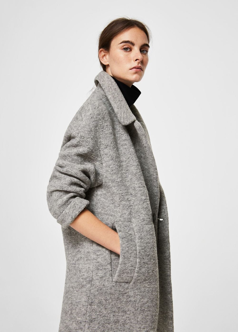 Unstructured wool-blend coat - Woman  97157bcc7e617