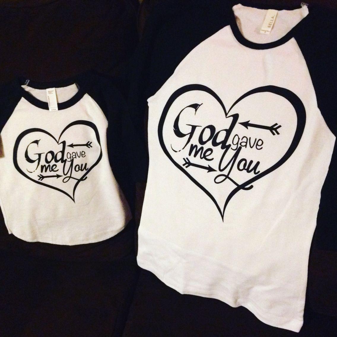 God Gave Me You Mommy And Me Baseball Tshirts Diy