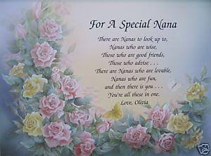 Nana Poem Grandmother Poem Birthday Poems Mothers Day Poems