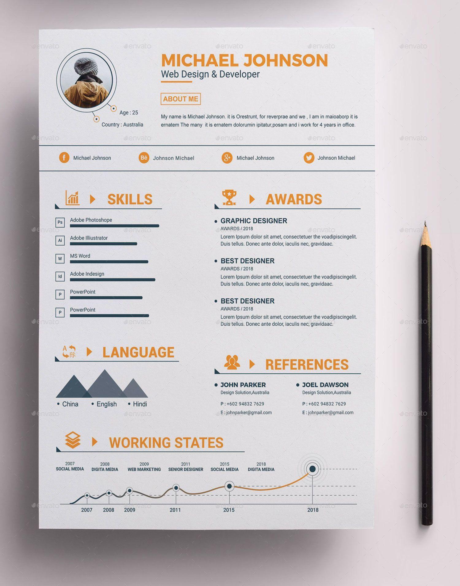 Epingle Sur Create Resume Template