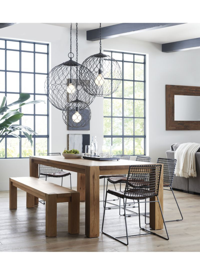 Big Sur Natural 65 Dining Table Reviews Crate And Barrel