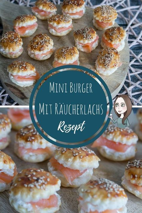 Mini Räucherlachs Burger Rezept #fingerfoodappetizers