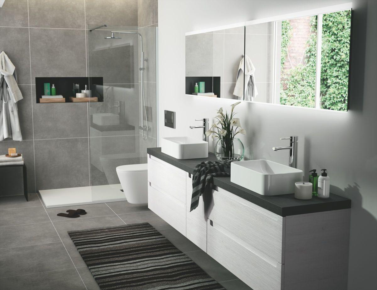 Badezimmer Holzmöbel ~ Badezimmer weiss schwarz woody  holz jetzt bestellen