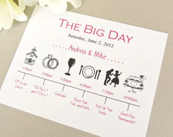 wedding day timeline schedule of events invitation card wedding