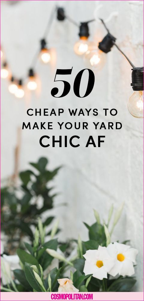 50 Ideas That Will Beautify Your Yard (Without Breaking the Bank) #backyardmakeover