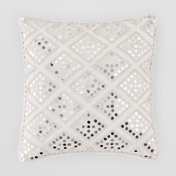 Sivaana Mirror Crystal Decorative Pillow 12 X 12 Bloomingdale S Pillows Decorative Pillows Decor