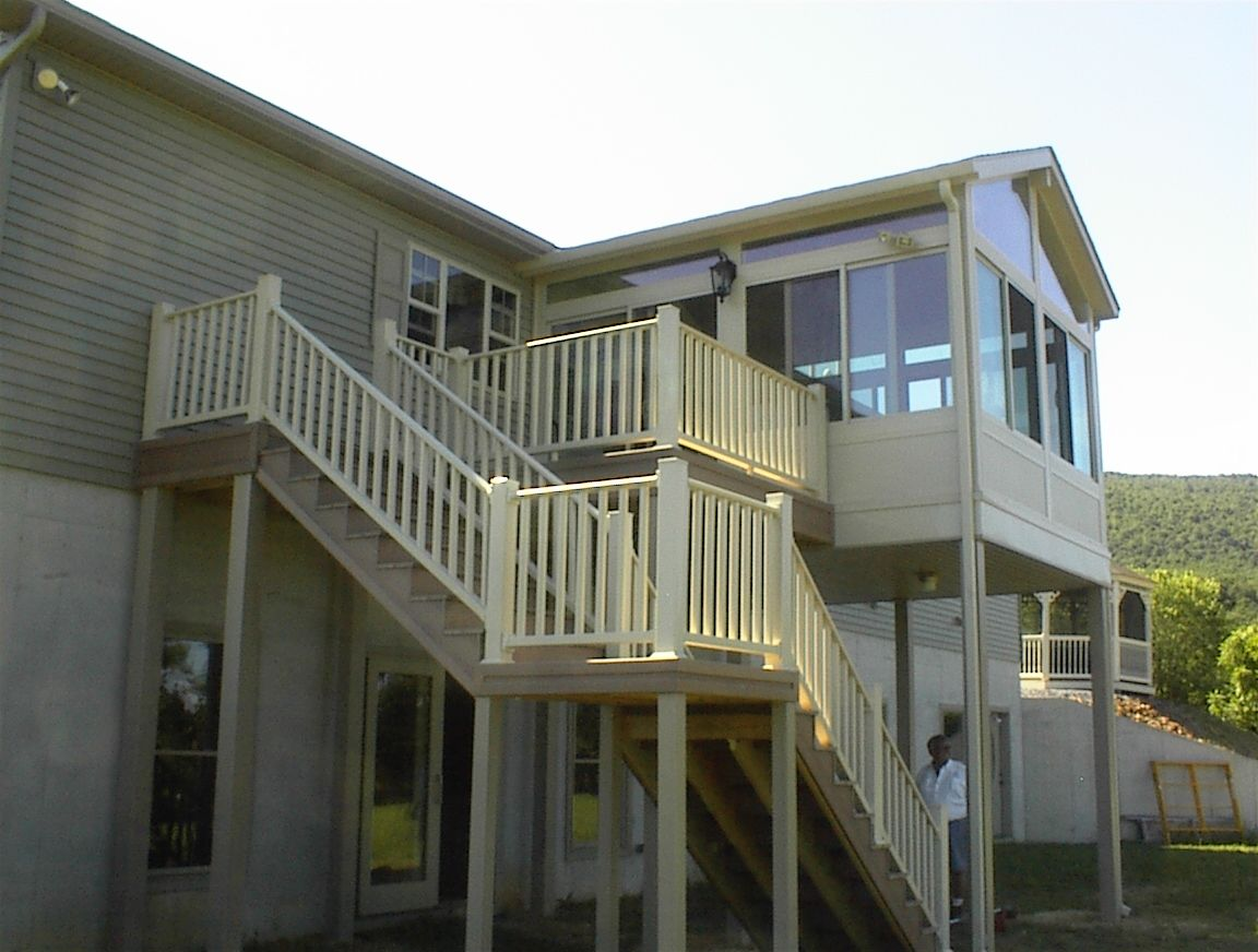 Sunroom Addition Built Out From Second Story With Additional