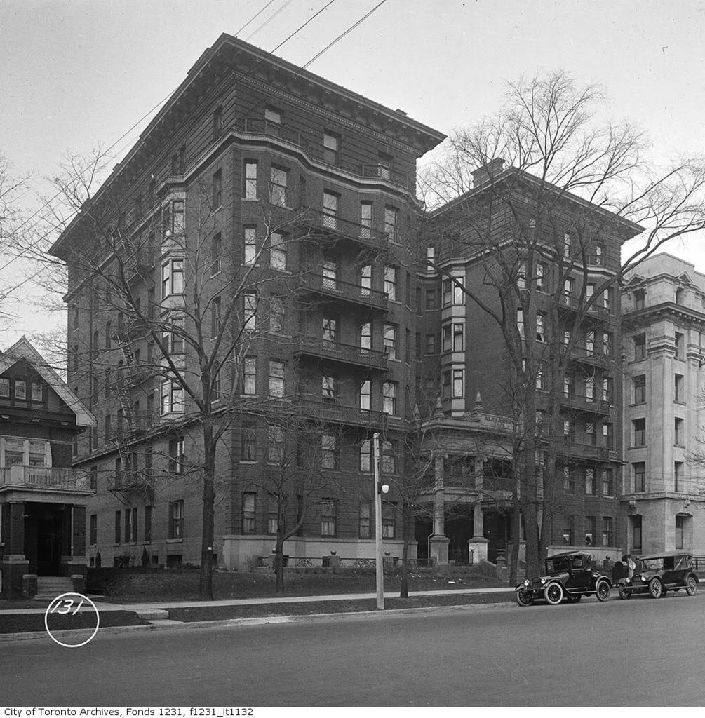 Old Brick Apartment Building: Miscellany Toronto Photographs: Then And Now