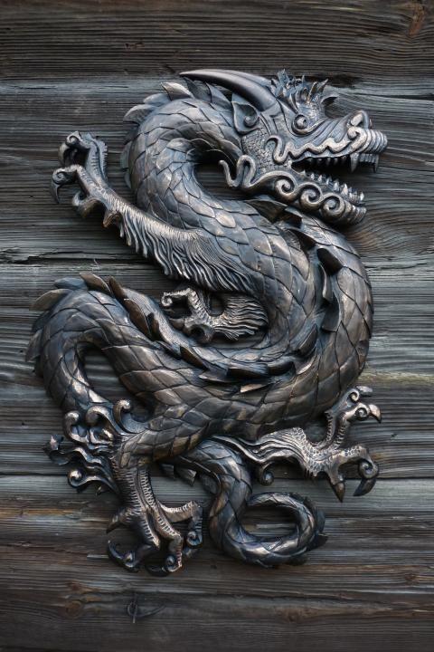"""Панно """"Дракон""""   Иллюстрация с драконом, Дракон, Картины"""