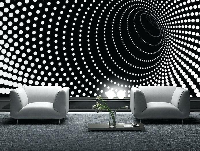 Schwarz-Weiß-Tapeten-Designs Innenarchitektur 2018 Pinterest - moderne tapeten wohnzimmer