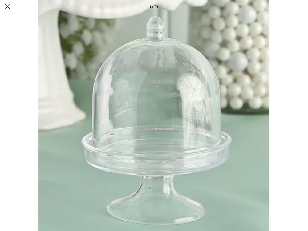 Clear mini cake stand cupcake favor wedding container