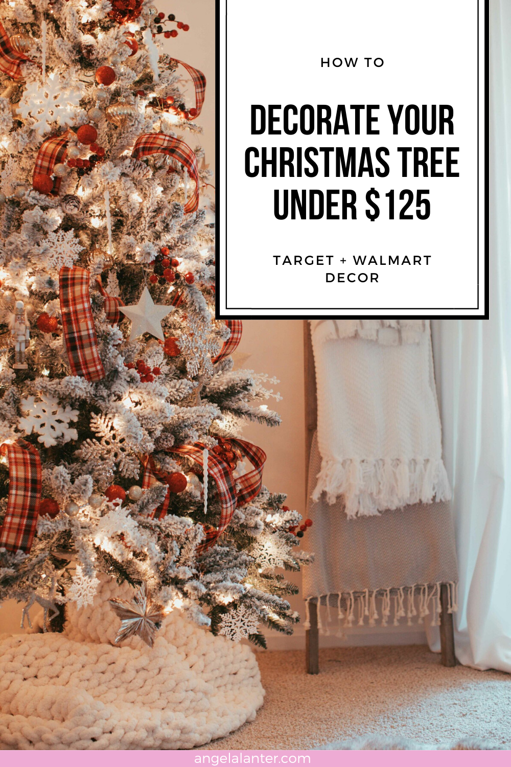 How To Decorate Your Christmas Tree Under 125 Christmas Tree Walmart Decor Home Decor Baskets